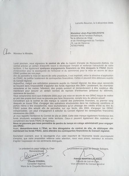 Convaincre le Ministre de financer une seconde Opération de restructuration de l'artisanat et du commerce (ORAC)