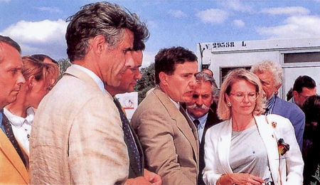 Inauguration du parc équestre en 1994 avec la Ministre de la jeunesse et des sports Michèle Alliot-Marie