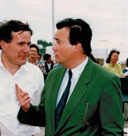 Serge Lecomte et Patrice Martin-Lalande en 1994