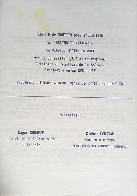 Les 2 présidents du comité de soutien : Roger Corrèze et Kléber Loustau
