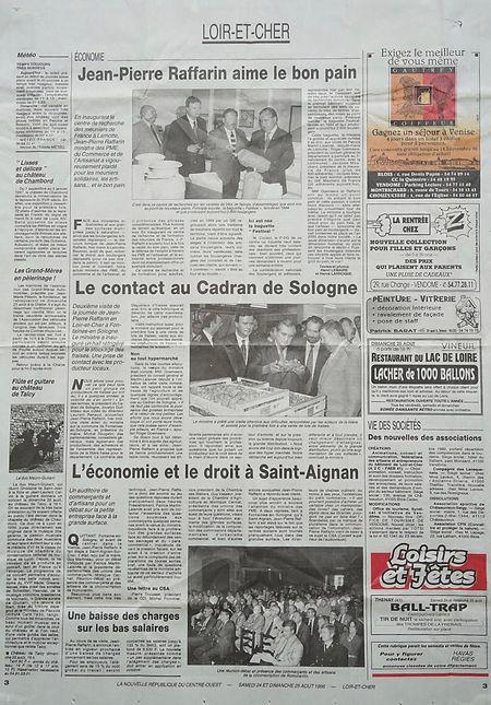 1996 : agriculture et commerce avec Jean-Pierre Raffarin