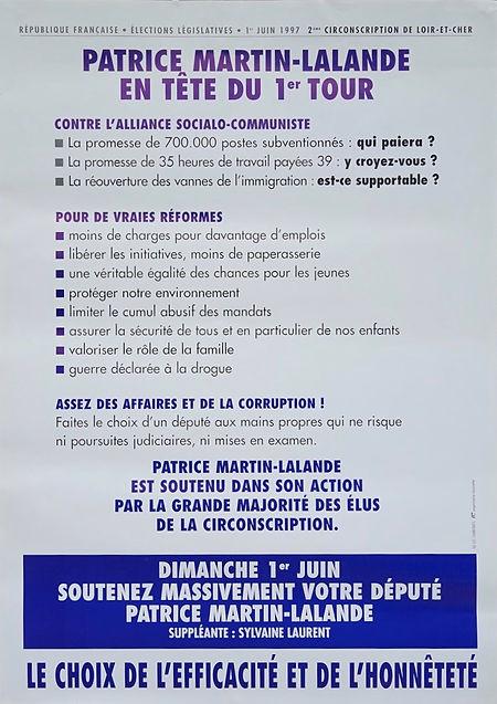 La campagne très politisée  et le scrutin très tendu pour les législatives de  1997