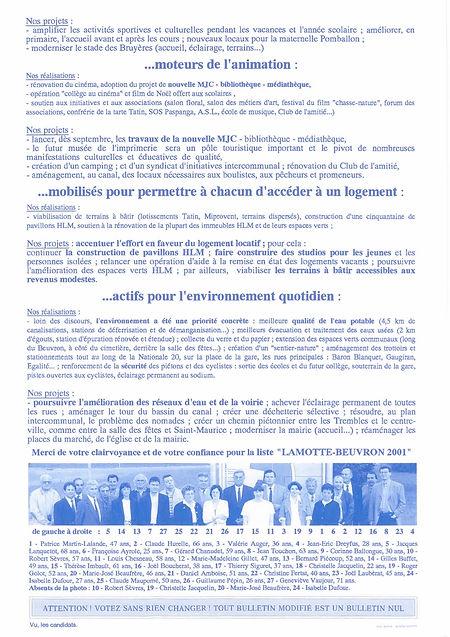 Tract pour les municipales verso