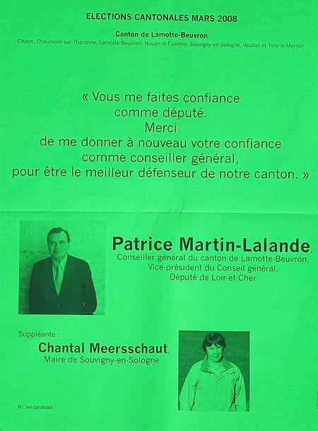 2008 : la seule cantonale avec une suppléante, Chantal Meersschaut