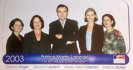 L'équipe parlementaire de 2002 à 2007