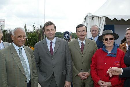 Le Ministre des sports Jean-François Lamour au Generali Open de France 2003