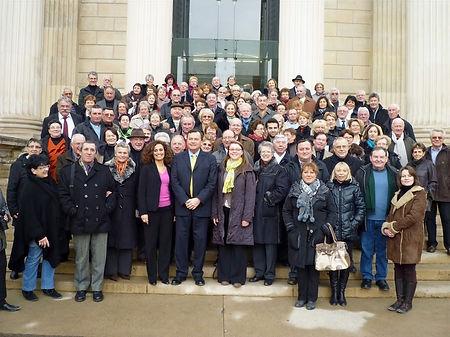 Visite d'un groupe à l'Assemblée nationale