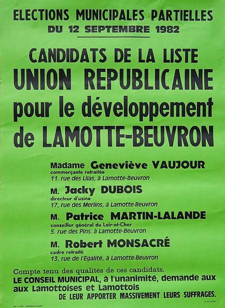 L'élection partielle de 1982 pour compléter le conseil et élire le maire