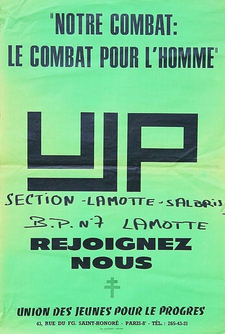 1969-1970 : la section Lamotte-Salbris des jeunes gaullistes de l'UJP