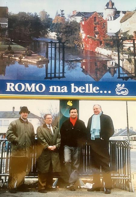 L'équipe de campagne avec Olivier Bouton, Roger Laurent et Jean-Jacques Bozec