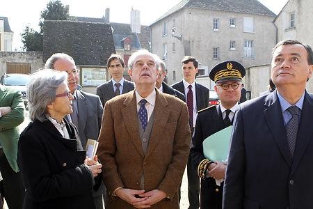 Venue de Frédéric Mitterrand à Saint-Dyé le 12 mars 2012.