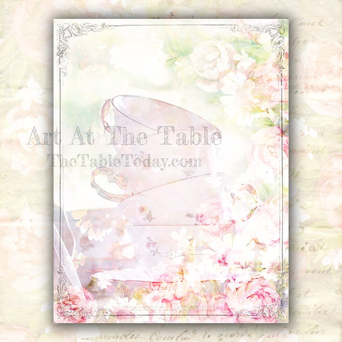 """""""Tea Time"""" Digital Paper Collection"""