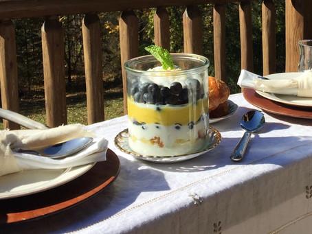 Blueberry & Lemon Curd Breakfast Trifle.
