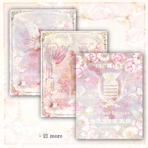 """Belle Rose"" Digital Paper Collection"
