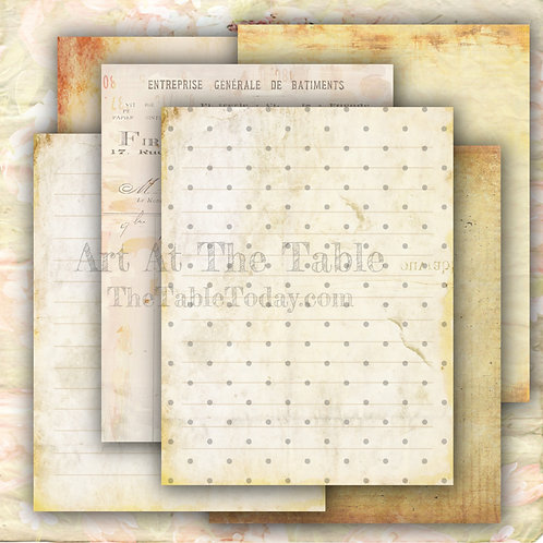 """""""Vintage Papers"""" Digital Paper Collection"""