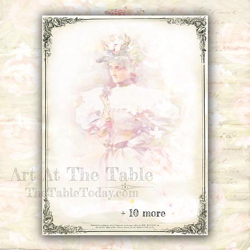"""""""Belle Rose 2"""" Digital Paper Collection"""