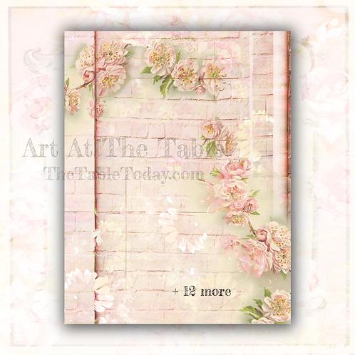 """Rose Garland"" Digital Paper Collection"