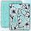 "Thumbnail: ""Random Turquoise"" Digital Paper Design"