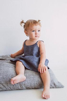 Simple Jean Linen Dress