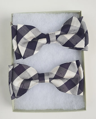 Silk Checkers Bow Tie