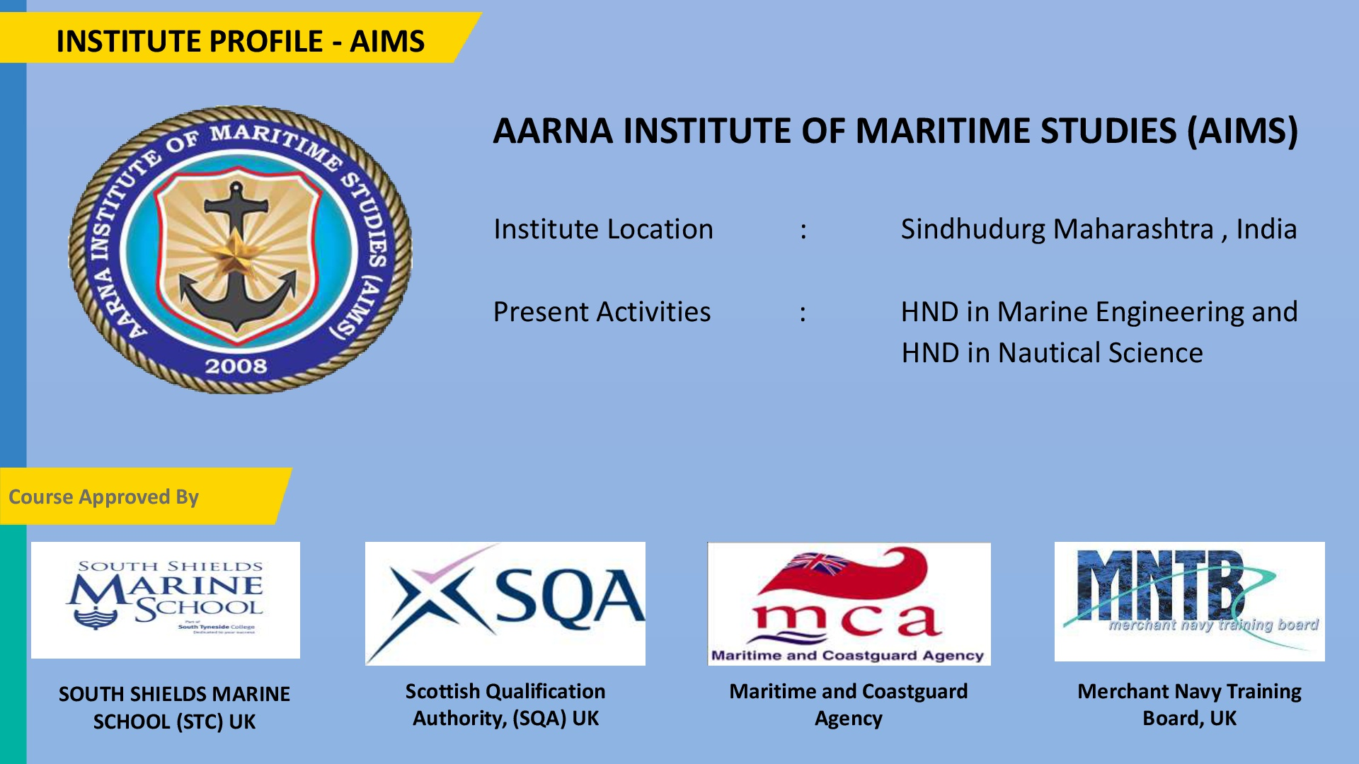 2. OUR GROUP INSTITUTE (AIMS)