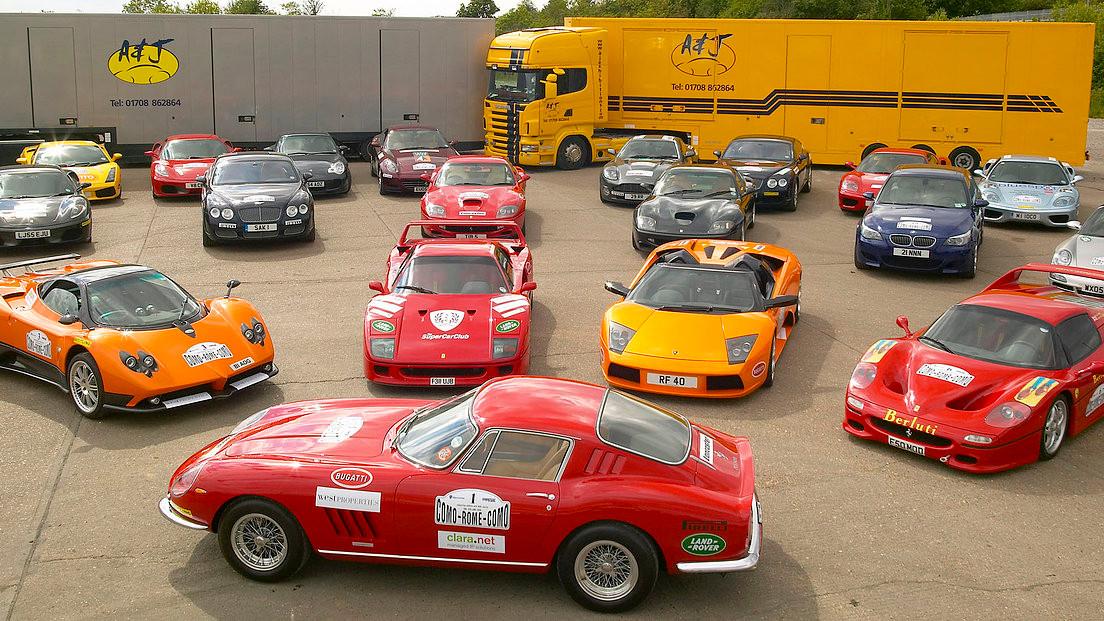 shot for supercar transport company