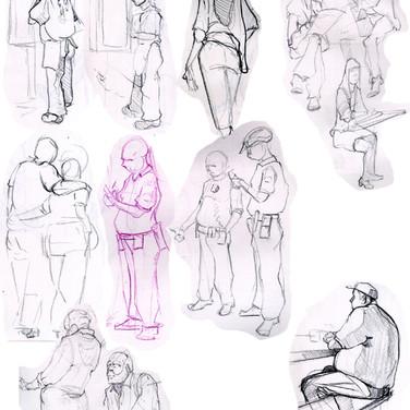 Life Drawing - Santa Monica Prominade