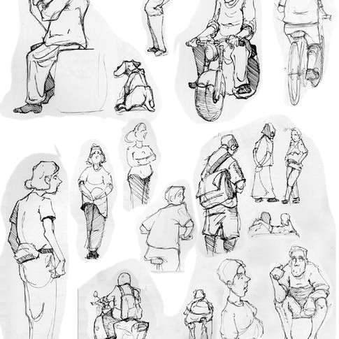 Drawing people while in Seattle