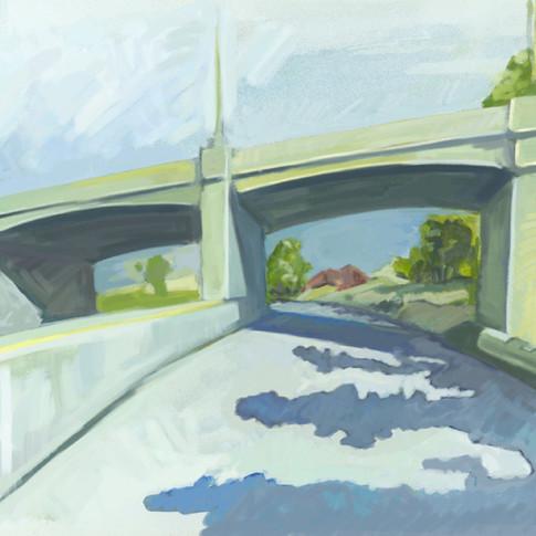 4th street bridge over 101 freelay - Los Angeles