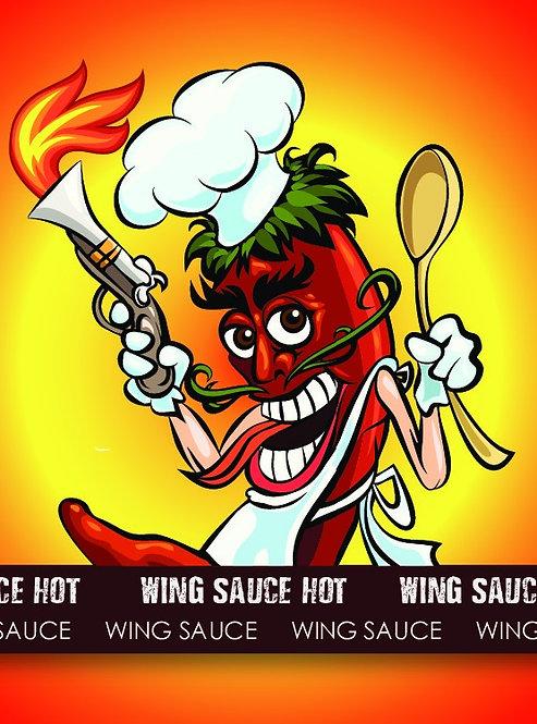 Wing Sauce Hot 12 oz
