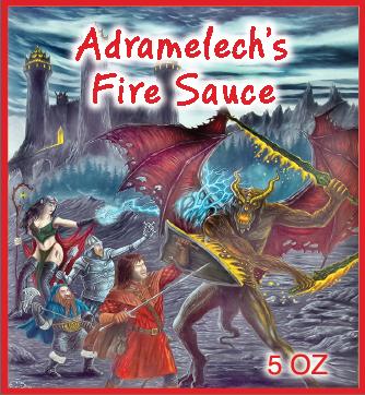 Adremelech's Fire Sauce 5 OZ