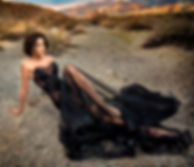 Black Wind in desert