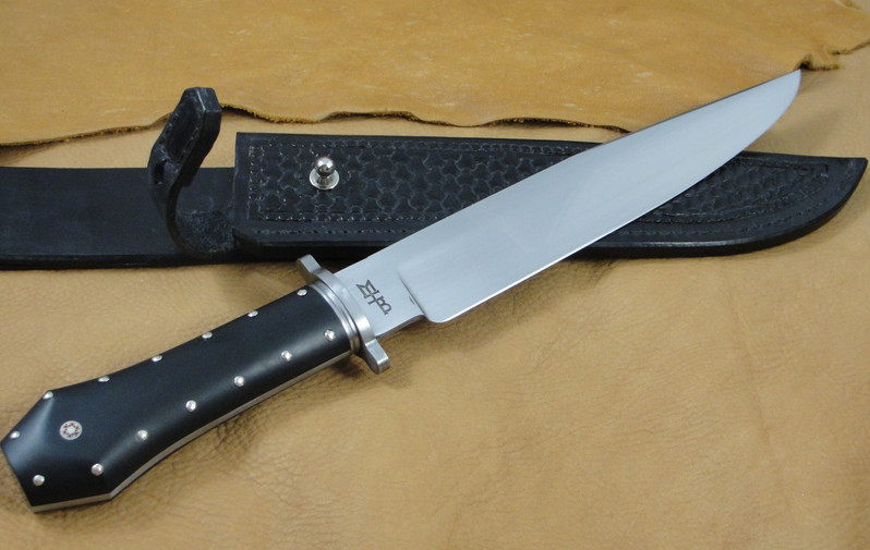 Coffin Handled Bowie Knife