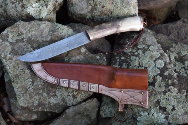 Caribou Antler Viking Knife
