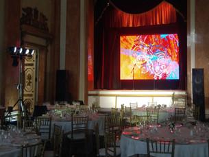 Звук, свет, видео на Гала-ужин в Последнем Дворце