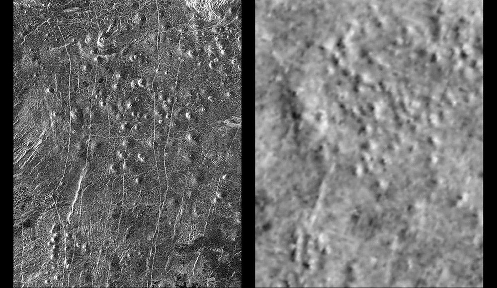 Venus surface capture on the first interplanetary communication