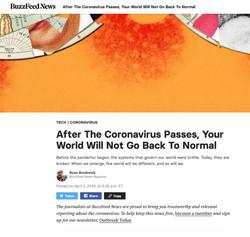 Buzzfeed New Normal Headline