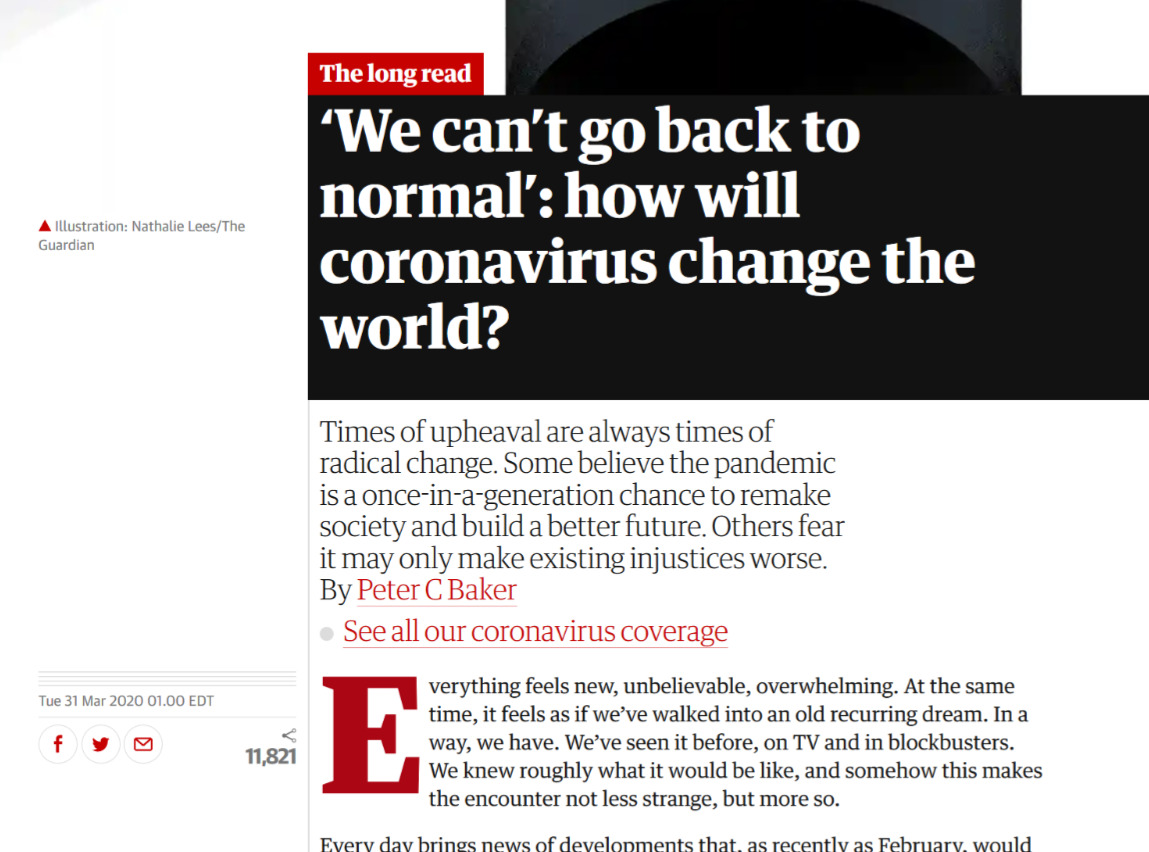 Guardian Can't Return to Normal Headline