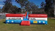Gladiator duel hire gold coast, gladiato duel hire brisbane, inflatable amusements hire, gladiator duel ipswich, hire mechanical bull,