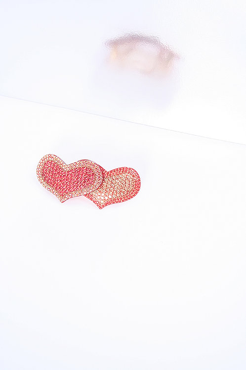 Double Heart Hairclip