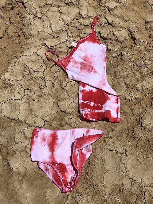 Twin Set Pant + Vest - Tie & Dye Red