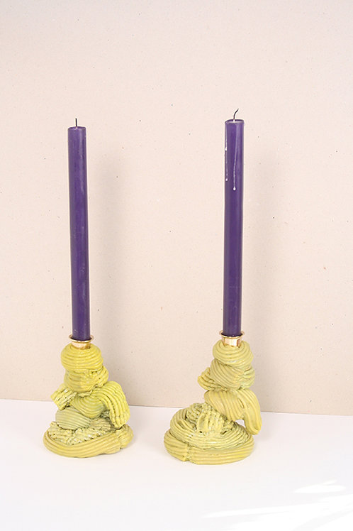 Plastic Baroque Absinth Candle holders