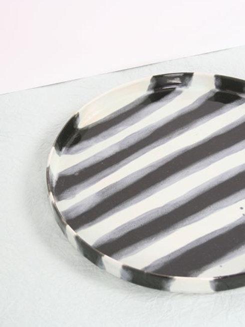 Striped Ceramic Tray