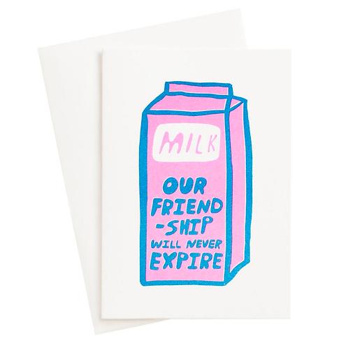 Friendship Milk Postcard