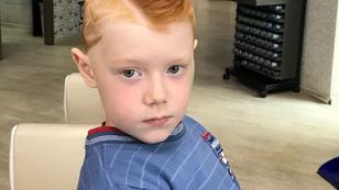 Детская стрижка с узорами