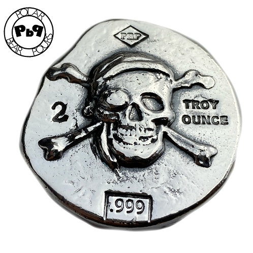 2 OZT The Jolly Roger shipwreck silver ( 3D bullion)