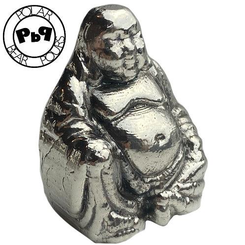 "4 OZT ""LUCKY Buddha"" .999 fine silver statue"