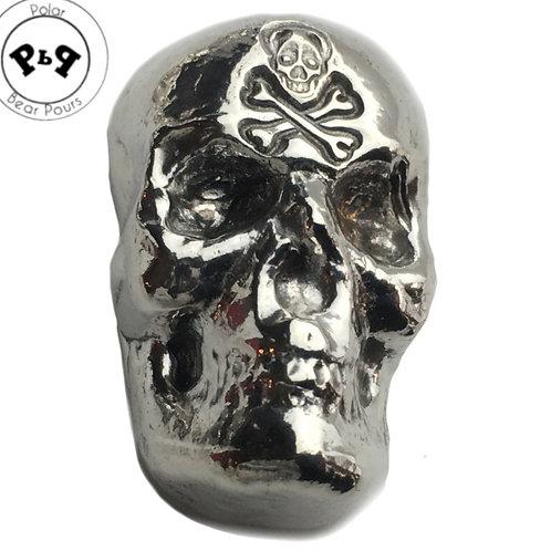 1 OZT Skull Jolly Roger Privy .999 silver