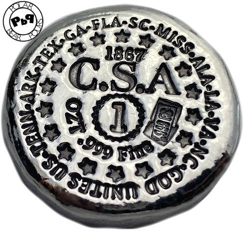 1 OZT Confederate silver round