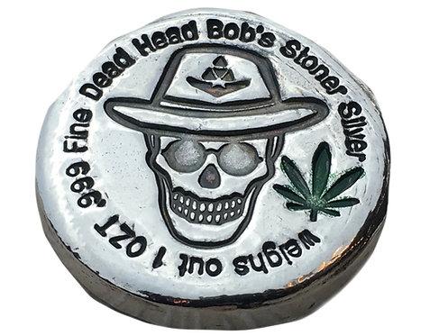 1 OZT Dead Head Bob STONER SILVER.